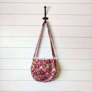 Vera Bradley Crossbody Messenger Pink Paisley Bag